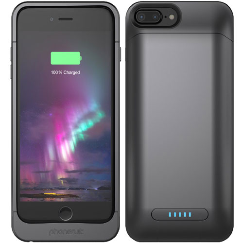 best service dab31 1fa00 PhoneSuit Elite Plus PRO Charging Case - Black Metallic - Cellular ...