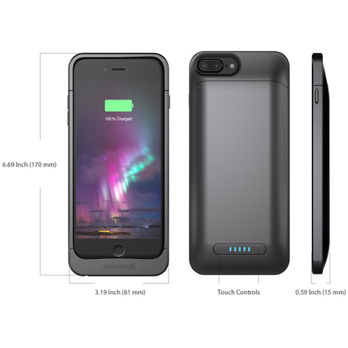 the latest f9071 6750b PhoneSuit Elite 7 Plus Charging Case - Black Metallic - Cellular ...